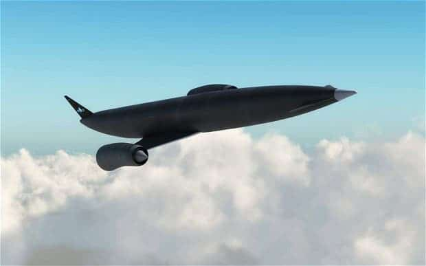 Artist impression of Skylon, the aircraft set to be fitted with the breakthrough SABRE jet-rocket engine. (c) Reaction Engines