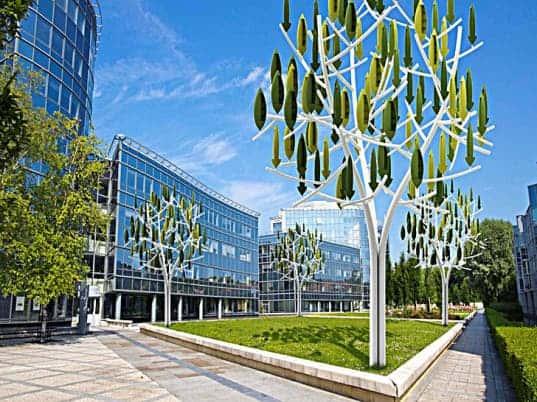 New Silent Wind Tree Turbines Make Energy Production Beautiful