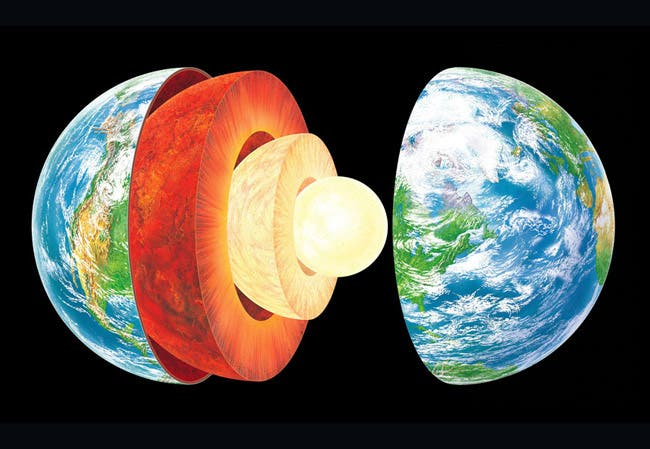 Image result for earth layers
