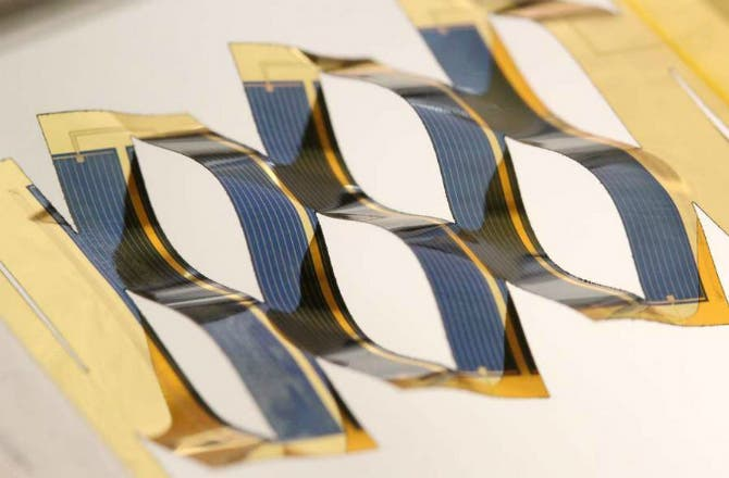 Solar Cells Twist And Turn To Catch More Sun During The Day