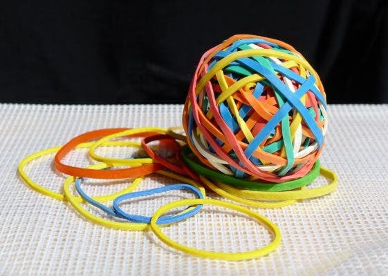 Rubber band.