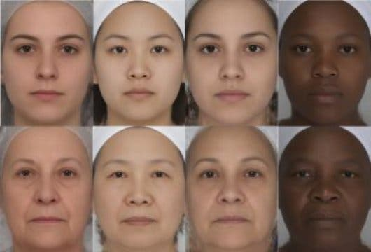 Contrasting facial features make you seem younger, no matter where