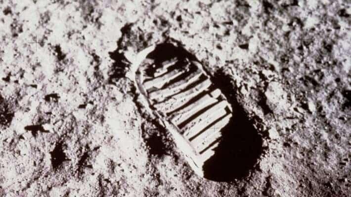 Moon footprint.
