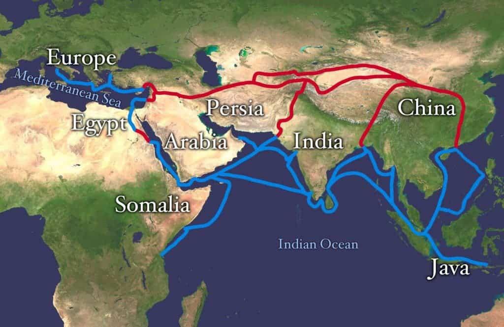 Silk road. Credit: Wikimedia Commons.