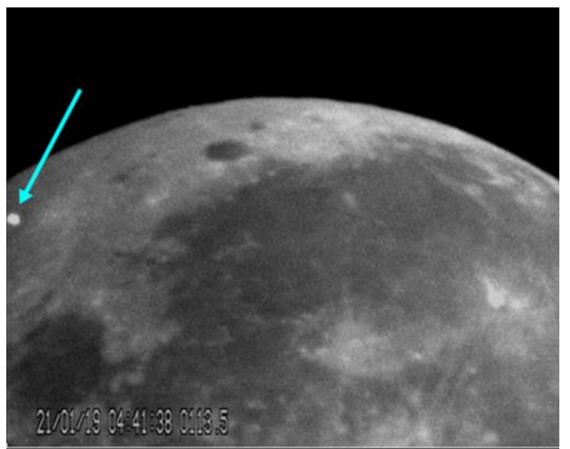 Astronomers record first lunar eclipse meteoroid impact