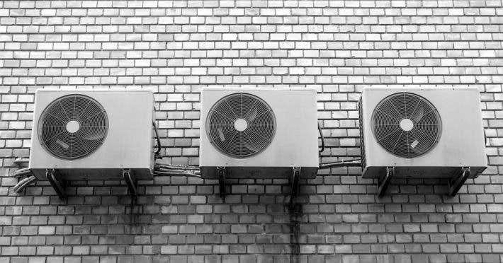 Wall fans.