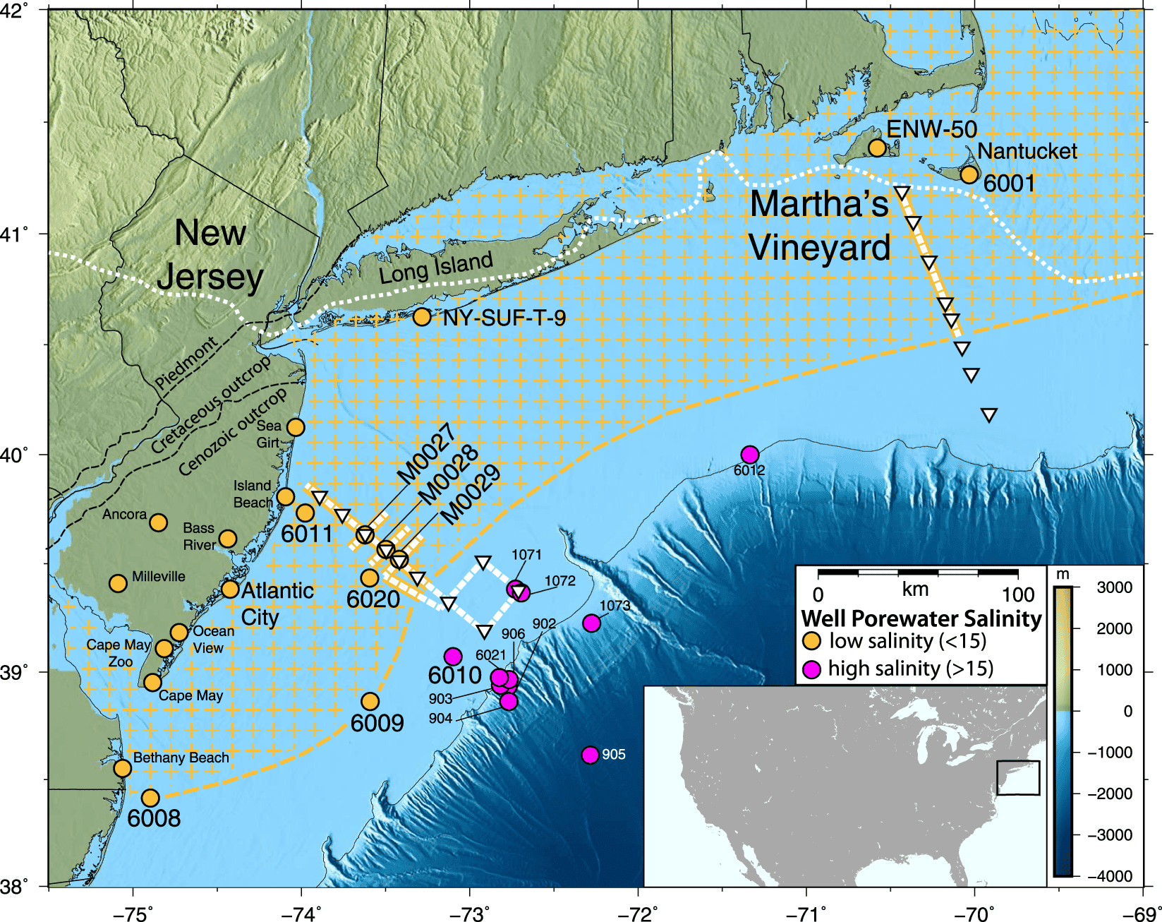 Largest freshwater aquifer of its kind found off the U.S. Northeast ...